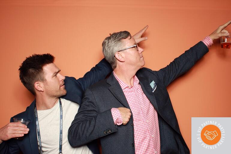 Charles McKay CEO Synx, and Brian Halligan CEO HubSpot